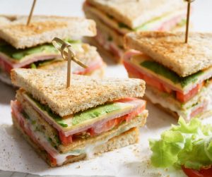 Delicious Summer Meal Ideas selection of miniature club sandwiches