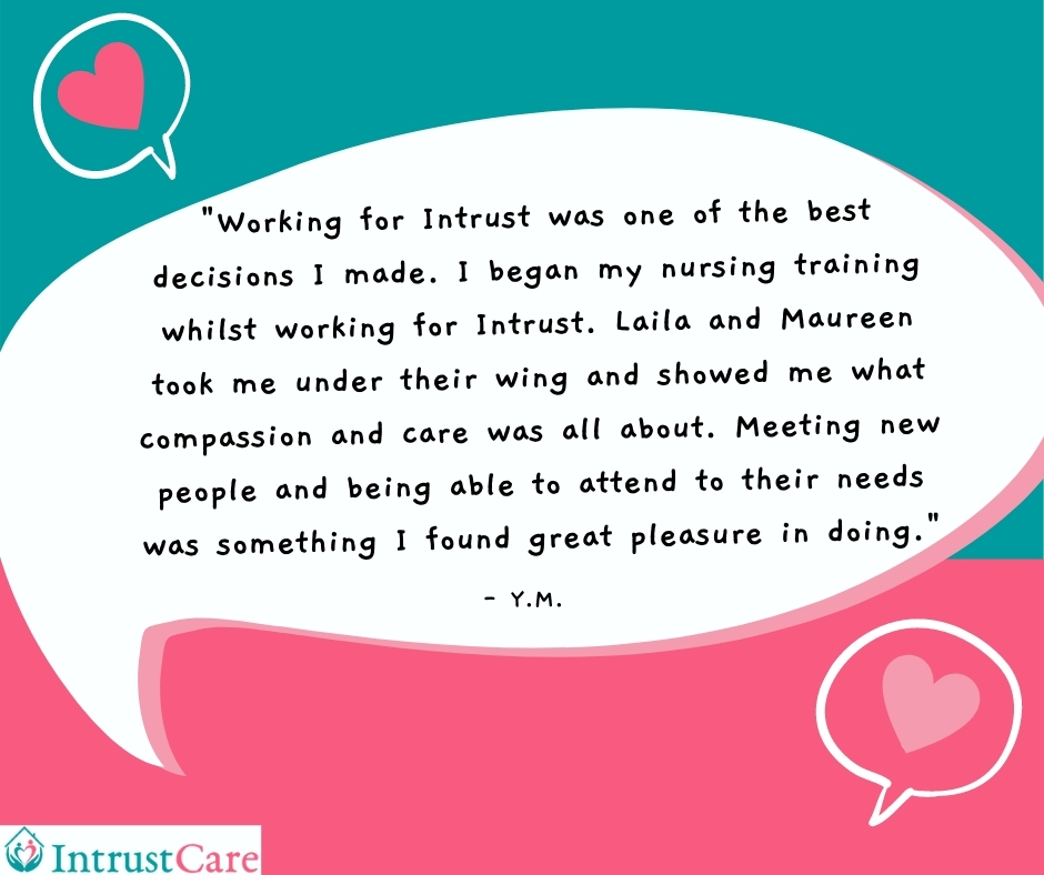 Carers review of working for Intrust Care